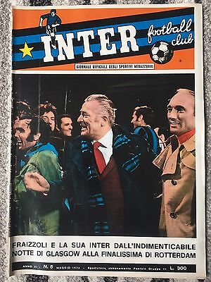 1972 EUROPEAN CUP FINAL INTER MILAN v AJAX (OFFICIAL INTER CLUB ISSUE) *CELTIC*