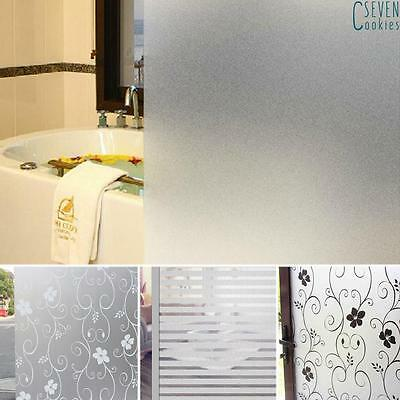 200 x 60CM Room Bathroom Home Glass Window Door Privacy Film Sticker PVC Frosted
