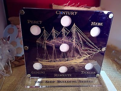 Bailiwick of jersey shipping £1 coin stand hebe tickler rare display capsule