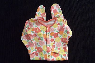 Baby clothes GIRL 6-9m F&F red/yellow floral/fruit babygrow, 2nd item post-free!