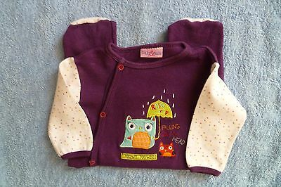 Baby clothes GIRL 3-6m purple/owls fun babygrow Lily & Jack SEE SHOP!COMBINE PO