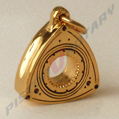 ROTOR Charm Pendant Gold Plated 3D for Rotary Mazda RX3 RX2 R100 13B RX7 RX4 RX5