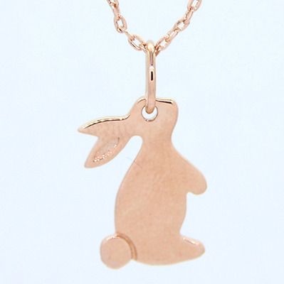 New! Rose gold plated 925 Sterling silver Bunny Rabbit Pendant Necklace