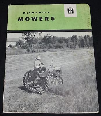 INTERNATIONAL HARVESTER MCCORMICK MOWERS ADVERTISING BROCHURE 1950s VINTAGE