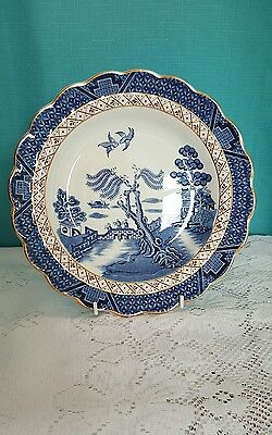 Booths real old willow a8025 scalloped plate