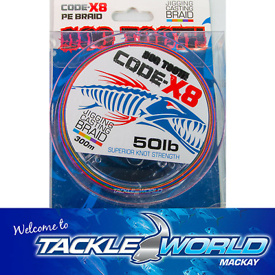 DOG TOOTH Code-X8 Multi Coloured Braid Fishing Line TACKLE WORLD