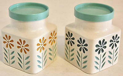 2 Small Hornsea Springtime Storage Jars Designed By John Clappison Ex Condition