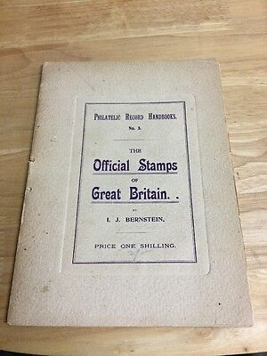 Philatelic Record Handbook Official Stamps Of Great Britain