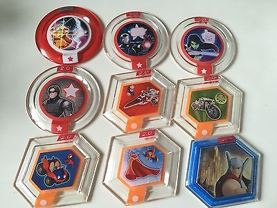 9 Power Discs for Disney Infinity 2.0 - Marvel Spiderman Ironman Gamora