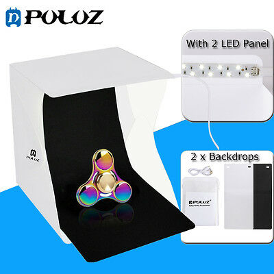 PULUZ Folding Portable Lightbox Mini Photo Studio Shooting Box Tent Kit W 2 LED