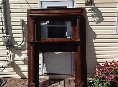 Vintage Antique Wood Fireplace Mantel Oak Mahogany?