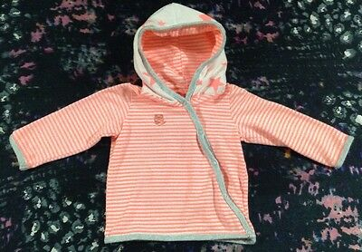 Cotton On Baby Girls Long Sleeve Hooded Top 0-3 Months 000