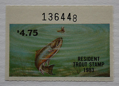U.S. (NJT61) 1983 New Jersey Trout Stamp (MNH)
