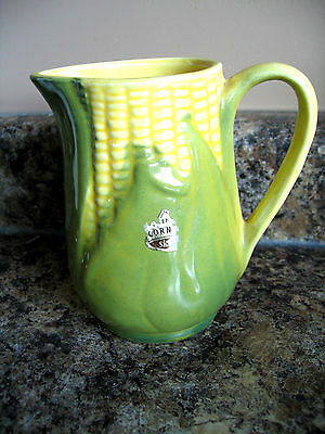 Vintage Shawnee Ceramic Yellow Corn Cob Milk Syrup Jug Creamer USA70