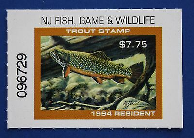 U.S. (NJT83) 1994 New Jersey Trout Stamp (MNH)
