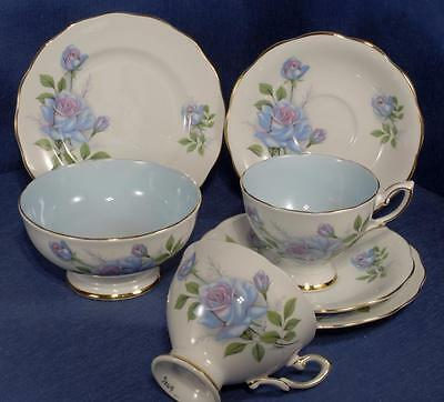 2 X Royal Standard China Trio's in 'Fascination' Pattern &  Sugar Bowl