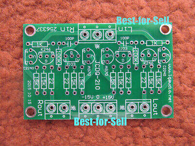 JFET input Cascoded Buffer Preamp PCB fit for Toshiba 2SK246/2SJ103, C2240/A970