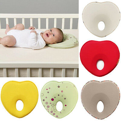 Kd Newborn Baby Infant Pillow Memory Foam Positioner Prevent Flat Head Anti Roll