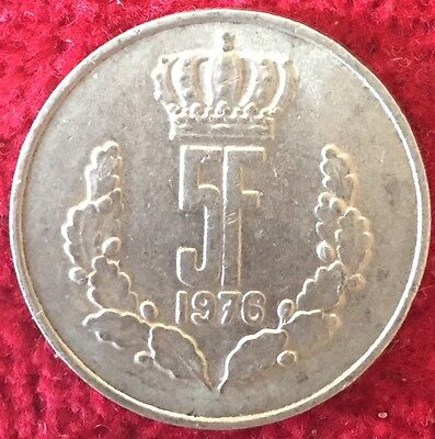 Luxemburg Luxembourg 5 Francs 1976