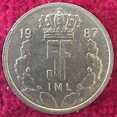 Luxemburg Luxembourg 5 Francs 1987