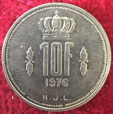 Luxemburg Luxembourg 10 Francs 1976
