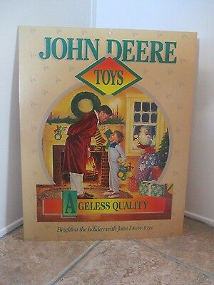 John Deere <Toys> Advertising Sign - 1990 Litho