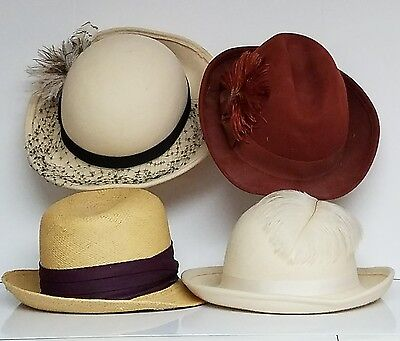 Lot of Vintage Ladies' Hats (4)