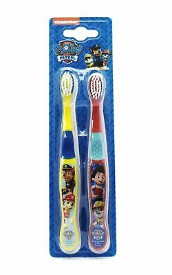 Nickelodeon Paw Patrol Toothbrushes 2 Pack (Yellow/Red) 1 2 3 6 12 Packs