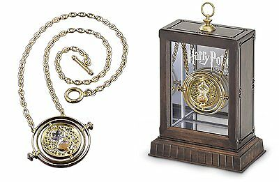 Harry Potter: Hermione's Time Turner Plated 24 Kt Gold + Chain And Display NEW!