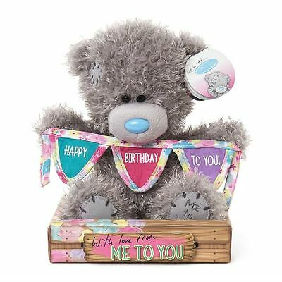 Me to You 7 Inch Holding Happy Birthday Bunting Plush Tatty Teddy Bear