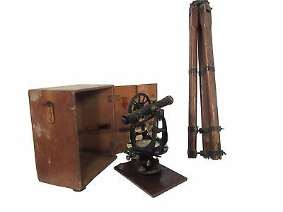 Antique Keuffel & Esser  Surveyint Transit Original Case & Tripod 1942