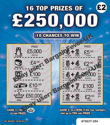 No1 - Fake Joke WINNING Scratch Cards Scratchcards Lottery  ALL Win £50,000