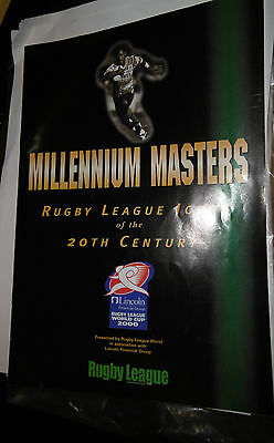 Millennium Masters Rugby League Icons of 20th Century 2000 World Cup Magazine