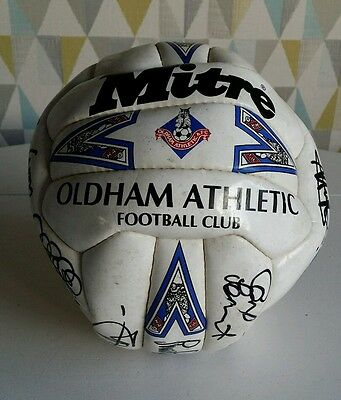 Signed mitre oldham football