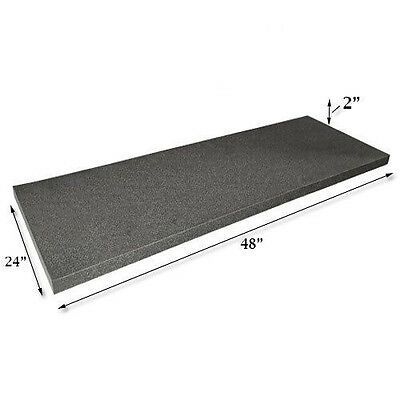 "Acoustic Foam Flat Panel Studio Soundproofing Foam Wall Panel 48"" X 24"" X 2"""