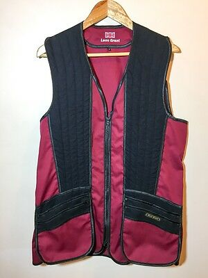 Clay pigeon skeet shooting gilet vest jacket red size M