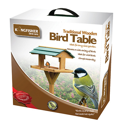 Garden Wild Bird Hanging Wooden Table Traditional Feeding Birds Station Bf009