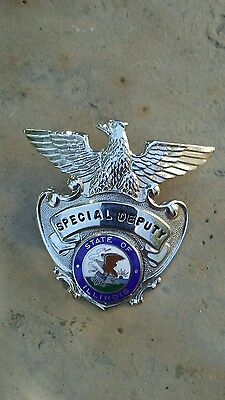 Special Deputy State of Illinois Badge Nice