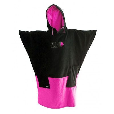 Poncho All In V Black Bright Rose