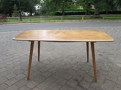 Vintage Light ERCOL Blonde Plank Top Kitchen Dining Table Retro Mid Century