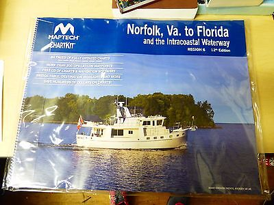 Maptech Chartkit Norfolk,VA to Flordia and Intracoastal Waterway Reg 6 12th Edi