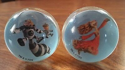 2 Blue Sky Ice Age Collision Course Character Balls: Brooke, Scrat With Acorn