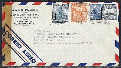 Guatemala 1943 Cover With Miami Censor  2 Scans