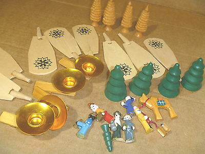 CAROUSEL PYRAMID CHRISTMAS REPLACEMENT ASPS CANDLES NATIVITY FIGURES trees LOT