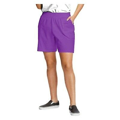 Just My Size by Hanes Plus Size Women's Jersey Essential Shorts - PURPLE 5XL
