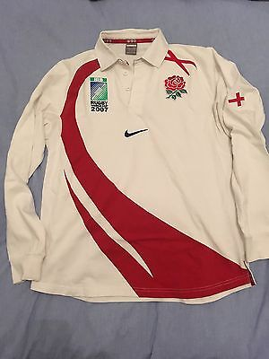 Maglia Jersey Rugby Inghilterra Nike World Cup 2007 Tg L
