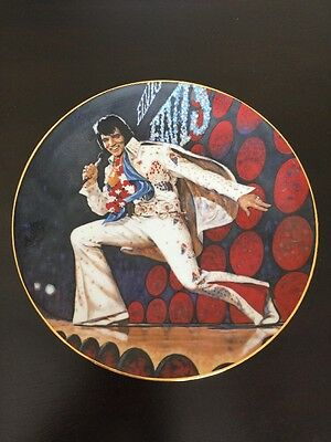 Elvis Presley Collector Plate Detroit Concert #565 1987 Limited Elvis In Concert