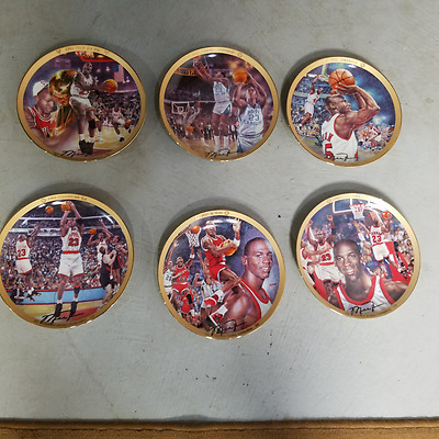 Lot Of 6 MICHAEL JORDAN BRADFORD EXCHANGE COLLECTOR PLATES NBA  CHICAGO BULLS