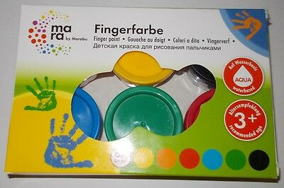 mara by Marabu Fingerfarbe 6 x 35 ml (100ml. / 3,32€)Fingerfarbe Set ab 3 Jahre