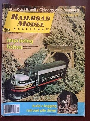 Railroad Model Craftsman Magazine 1976 Erie-built B-unit Chicago Club logging